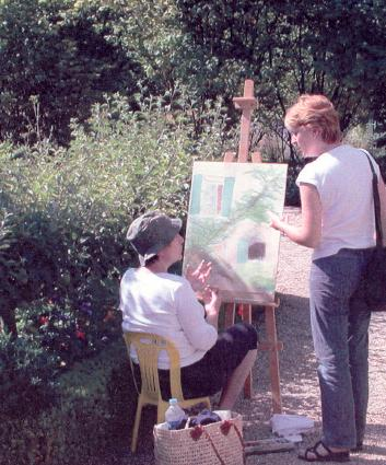 giverny painting session
