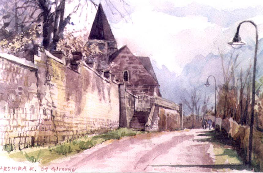Quot Giverny L Eglise Quot Aquarelle Watercolor Yamira Krason