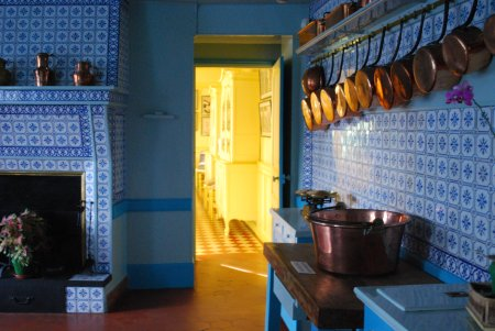 Claude Monet Giverny Home Kitchen. Claude Monet s house in Giverny